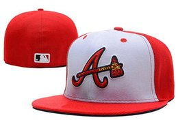 Wholesale MLB Atlanta Braves Snapback Medium Raised Embroidery Letter Fitted Hat Structured Classic High Crown Baseball Fit Cap