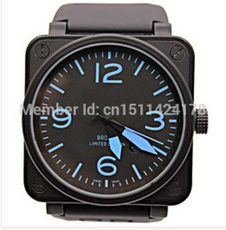 Wholesale Luxury Business Watch Mens Stainless Steel Automatic Mechanical Black dial Rubber BR Ross PVD dive mm Big Watches With Logo