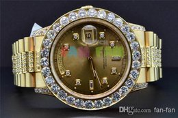 Wholesale Luxury AAA Top Quality Wristwatch Watch President K Yellow Gold Custom Diamond Watch Bezel mm