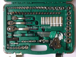 Wholesale Car Spanner Tool Set - Free Shipping 121 pcs Socket Wrench Set Spanner Car Ship Machine Repair Service Tools Kit with Comfortable Ratchet