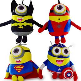 Descuento superhéroes juguetes de peluche 20pcs 2015 los nuevos 23CM MINIONS las muñecas los muñecos de la felpa del super héroe de los vengadores muñecas de la historieta del niño del batman del hombre araña