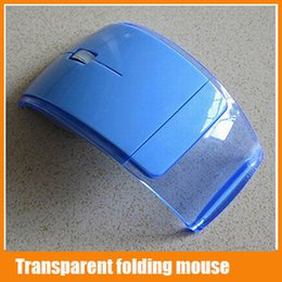 Wholesale 2015 Hot Creative Transparent Wireless Mouse Snap in Transceiver G USB Cordless Fold Mouse Mice for Laptop and Computer