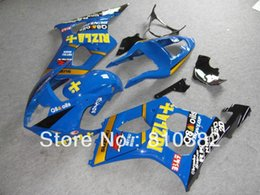 Injection Fairing kit 1000 03 04 GSXR 1000 GSX-R1000 K3 2003 2004 Fashion RIZLA set blue panels for SUZUKI GSXR