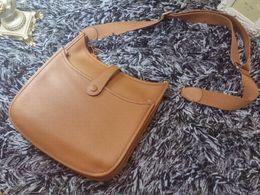 Top quality women genuine calfskin Leather EVELYN 30cm messenger handbag shoulder bag tote purse