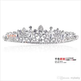 Mariage met en vente à vendre-2014 Hot Sale Romatic Shiny Diadèmes Coiffes Cheveux Cristaux Tiaras mariée mariage Ensembles de bijoux