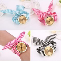 2015 New design Geneval Brand Ladies flower cloth fashion women dress fabric watch sweet girls Bracelt watch