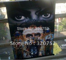 Wholesale 5pcs Rare Rare Michael Jackson Dangerous Wall picture Flag Banner x22inch
