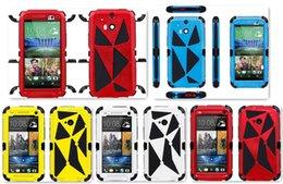 Verre trempé puissant défenseur imperméable dure couverture en métal de retour cas pour iPhone 6 plus Samsung S5 S4 S3 HTC M8 M7 avec support 20pcs à partir de supports métalliques pour le verre fournisseurs