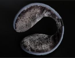 Wholesale-1 pcs Gray warm plush cloth Ear Muffs Winter Ear warmers Mens or Womens Fleece Warmer Earmuff