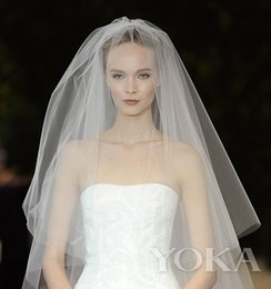 Wholesale Package mail Korean brides veil brief paragraph ultra soft contracted monolayer covering surface element yarn meters of naked wedding ac