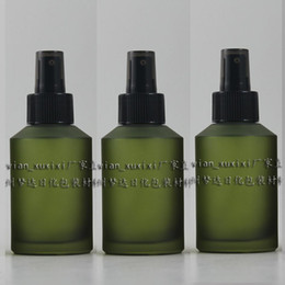 125ml olive green frosted Glass lotion bottle with black plastic pump,cosmetic packing,cosmetic bottle,packing for liquid