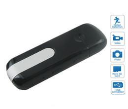 Wholesale NEW Mini U8 DV USB Flash DISK DVR Hidden Spy Camera Motion Detection Cam HD U disk Camcorder mini dv Drop Shipping