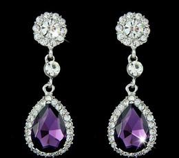 New Women Christmas Gifts Fashion 925 Sterling Silver Plated Chandelier Earrings Crystal Drops Dangle Wedding Earrings
