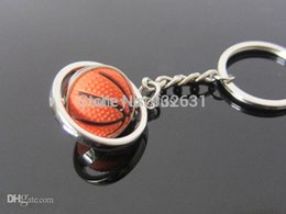 Wholesale One PC D Sports Rotating Basketball Keychain Key Chain Keyring Key Ring Key Ball Competition Prize Award L000402