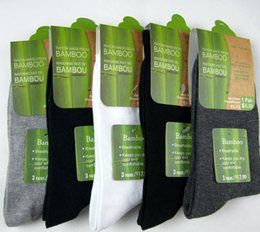 Wholesale 2015 Direct Selling Real Mixed Color Bamboo Charcoal Men s Socks Antibacterial Breathable Cotton Calcetines Pair