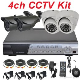 Wholesale Cheapest Cctv Camera Recorders - Best cheap 4ch cctv kit cctv system installation sony 700TVL security surveillance video monitor camera DVR network digital video recorder