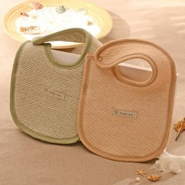 Wholesale Natural colored organic cotton baby bibs baby bibs bib children meals pocket AE601