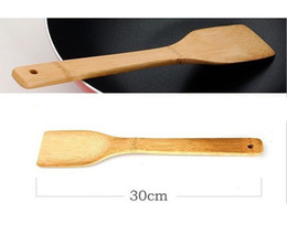 Wholesale FD2559 new Bamboo Wooden Spatula Scraper Kitchen Cooking Tool Utensil Handmade CM