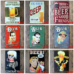 lastest 20*30cm ice cold beer poster Tin Sign Coffee Shop Bar Restaurant Wall Art decoration Bar Metal Paintings