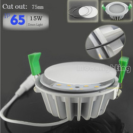6X New Arrival 15W Waterproof downlights IP65 Dimmable downlight,15W led Ceiling light down lights for Bathroom Kitchen