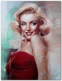 Wholesale Andy warhol American actress Marilyn Monroe stars Symbolwall sex movie art figure oil painting canvas for home decoration