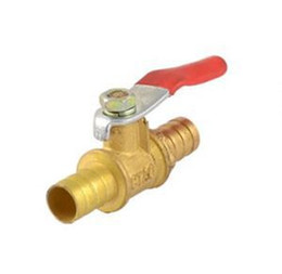 Wholesale Holiday Sale quot PEX Brass Ball Valve Full Port Crimp Shut off Valves for PEX Tubing With Low Price