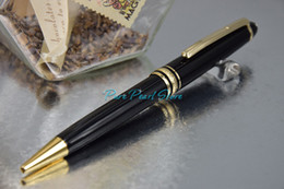 Wholesale PURE PEARL MB High Quality Stationery Pure Black Clip of Golden Color Ballpoint Pen