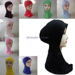 Wholesale Wonder Land Fashion Islamic Turban Head Wear Band Neck Chest Cover Bonnet Muslim Short Hijab Shawls Arab Women Scarf