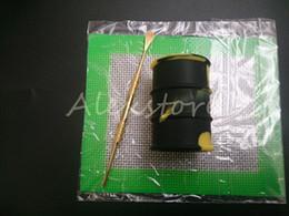 Ensembles de batterie à vendre-Kit 1pcs Cire silicone Set avec feuilles carrées Tapis mat baril tambour 26ml outil huile de silicone contenant de dabber pour les bocaux d'herbes sèches dab