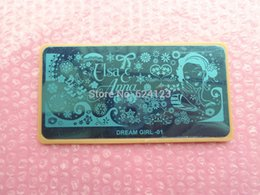 Wholesale New Nail Stamping Plate Image Disc Transfer Print Template with plastic board pieces