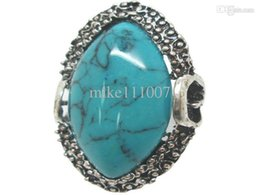 Wholesale 2015 New Fashion Vintage Gemstone Rings Elegant European Rings Turquoise Rings assorted designs TR010 for Woman