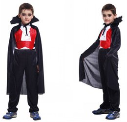 2015 New Earl Of Vampire Costume Halloween Costumes For Children Kids Christmas Costumes Carnival Costume Free shipping