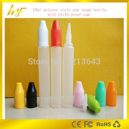 Wholesale hot sale ml unicorn style pen shape PE bottle with child proof cap and removable dropper tip from bottle manufacturer