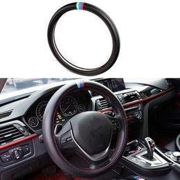 2016 bmw x6 de carbono Volante cubierta Car Styling Accesorios interior de estilo deportivo de fibra
