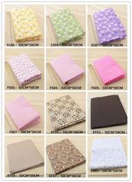 63 Assorted prédécoupé Charm Quilt Coton patchwork Tissu, Pertinence Floral Dot Grille 50x50cm par feuille - Choisissez vos propres couleurs à partir de pré en propriété fabricateur