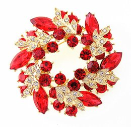 2 Inch Fashion Jewelry Accessories Top Quality Different Color Round Leaf Flower Brooch Pins For Wedding
