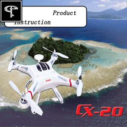 Promotion gps quadcopter fpv Gros-FPV Drone Cheerson CX-20 GPS Télécommande Quadcopter hélicoptère jouets RC Expédition Auto-Pathfinder Aircraft gratuit
