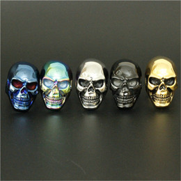 1pc size 8-15 Wholesale 5 color Big Skull Ring 316L Stainless Steel Cool Design Skull Ring