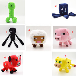 Wholesale Creeper Squid Enderman Plush Toys Sheep Pig Mushroom Cow Ocelot Cat My World MC Stuffed Animals Dolls Kid Boys Christmas Birthday Gifts