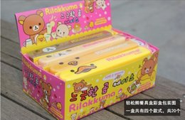 Wholesale pairs portable patterns Rilakkuma bear duck chicken environmentally friendly convenient tableware Packed chopsticks