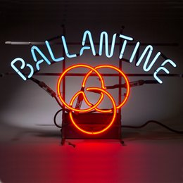New Ballantine Glass Neon Sign Light Beer Bar Pub Sign Arts Crafts Gifts Lighting Size: 22""