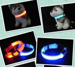 Wholesale LED Nylon Pet Dog Collar Night Safety LED Light up Flashing Glow In The Dark Electric LED Pets Cat Dog Collar