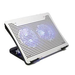 2017 computadoras portátiles para la venta Los cojines de enfriamiento del ordenador portátil de las ventas calientes 4 puertos usb el cubo (opcional) altura de 8 grados ajustable para los accesorios de computadora VAZIO N1-2-plateado computadoras portátiles para la venta oferta