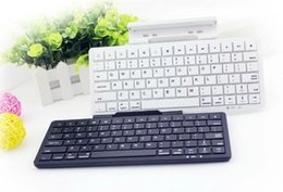 Wholesale Wireless HT keyboard Folding gaming bluetooth Keyboards Computer mini keypad for ios Android phone and pad Built in Rechargable Battery