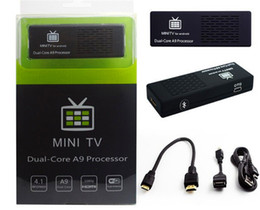Mini boîte hd en Ligne-Hot vente MINI PC Android 4.2.2 RK3066 Dual-Core Bluetooth Google Android Internet intelligent IPTV TV BOX bâton Dongle 1 Go / 8 Go