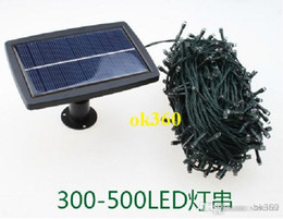 Solar Powered led string light 300- 500LEDS 31-51M lighting garden light outdoor solar panel light For Christmas Holiday H2021