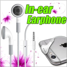 Wholesale For iPhone In ear wired Earphones Headset with Remote Mic and Volume Control for i6 Plus i4 i4s i5 Samsung s6 Note