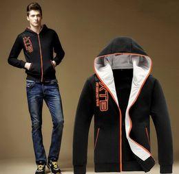 NEW Autumn winter men's fleece fashion leisure young hooded fleece jacket sport Hoodie men wear