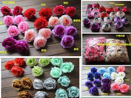 Soie entrouverte Camellia 100pcs Diamètre Rose Fleur Heads Tissu pivoine Fleurs pour mariage Parti Décoratifs Fleurs Centres cheap fabric rose heads à partir de tissu rose têtes fournisseurs