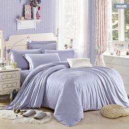 Luxury light blue bedding set queen king size tencel duvet cover double bed in a bag sheet linen quilt doona bedsheet bedspreads 4pcs bedclo